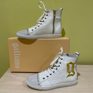 GALLIANO Leather Sneakers 7/37 New